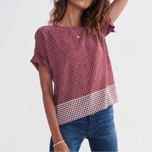 Madewell Silk Geometric Print Blouse